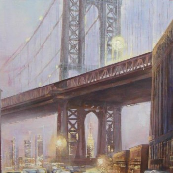CHEKIROV_NAMAZ_MANHATTAN_BRIDGE_100x80cm_oil_canvas